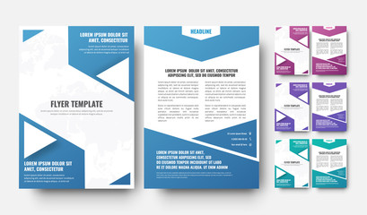 Design of a modern flyer in abstract triangular design elements