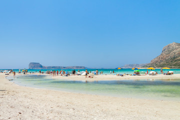 Balos Lagoon. All shades of blue and turquoise. Crete, Greece