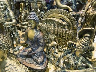 Asian gods statues