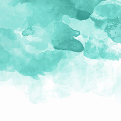 Turquoise watercolor background vector