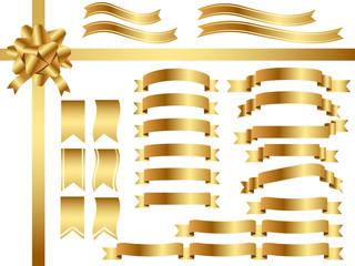 リボン素材セット 金色