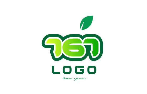 Number 767 numeral digit logo icon design