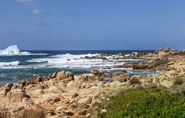 rocky coast in Corsica