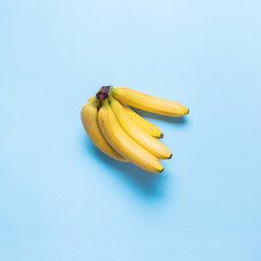 Fresh Juice Fruit Banana Color Blue Flat Lay