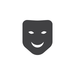 Carnival mask icon vector, filled flat sign, solid pictogram isolated on white. Symbol, logo illustration.