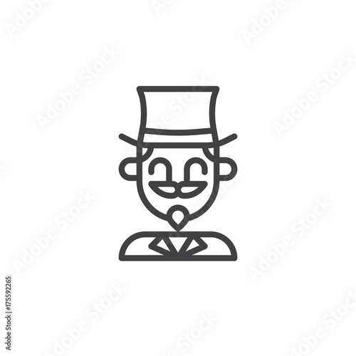 Stupendous Magician Circus Actor Line Icon Outline Vector Sign Linear Download Free Architecture Designs Licukmadebymaigaardcom
