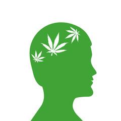 mann mit cannabiskranz