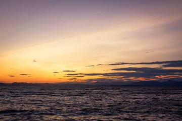 Sea and sunset.