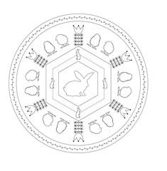 Mandala Ostern - Vektor