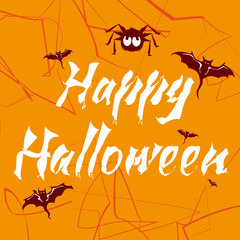 Happy Halloween stylized lettering