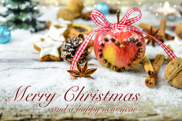 christmas apple - with text