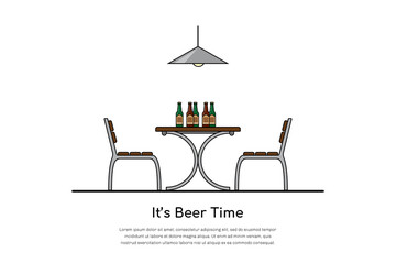 beer time concept