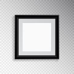 A realistic square frame with a mat for photography or painting.