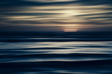 Moody seascape abstract at dusk
