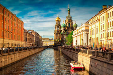 Church of the Savior on Spilled Blood in Saint Petersburg, Russia Fototapete
