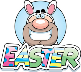 Cartoon Easter Bunny Man Graphic