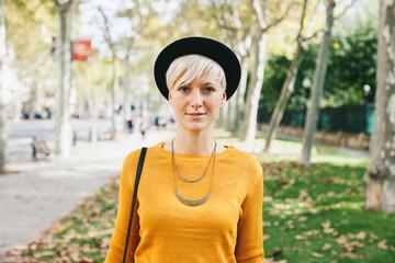 Woman in autumn.