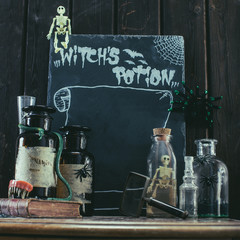 Halloween decor. Witch's potion.