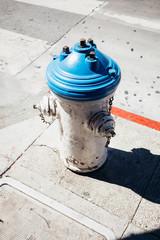 City Fire Hydrant On Corner of Sidewalk Along Street