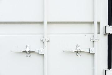 White closed cargo container