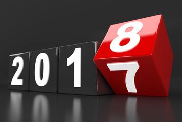 Year 2017 turns to 2018