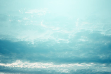 Sky with clouds. Cloudscape background.