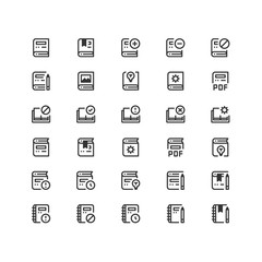 Minimal icon set of  Education and School Vector Line Icons Collection , good choice to use for website project , Ui and Ux design, mobile app and more. All vector icons based on 32px grid.