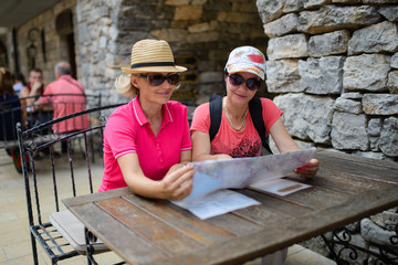 Middle age women tourist in Italy
