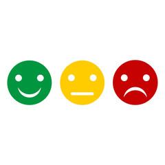 emoticon smiles on white background