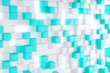 Light blue cube background