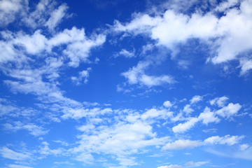 Dark blue sky with clouds