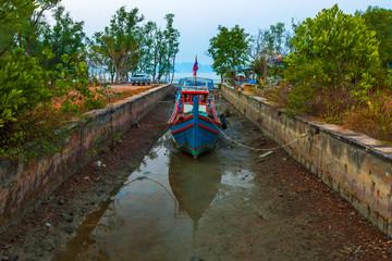 Dock of Koh Lanta Old Town. Krabi, Thailand.