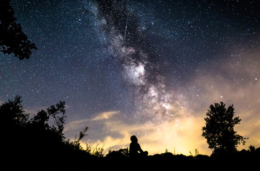 Man siting deep sky in germany