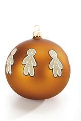 Golden Christmas ornament, ball