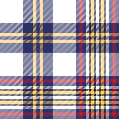 Seamless pattern white blue check plaid