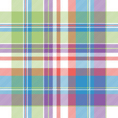 Tartan color plaid fabric seamless pattern