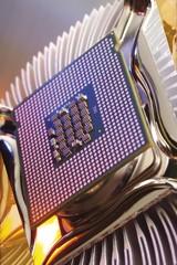 Processor chip on processor fan