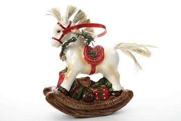 Small rocking horse Christmas decoration
