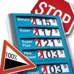 Symbolic picture, rising petrol prices