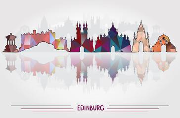 Vector Edinburgh City background