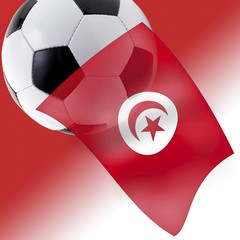 Football and Tunisian flag