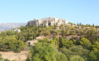 Recess Fitting Athens landscape of Parthenon Acropolis as seen from Thissio Athens Greece