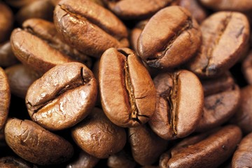 Coffee beans, filling entire image
