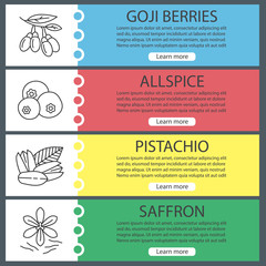Spices web banner templates set
