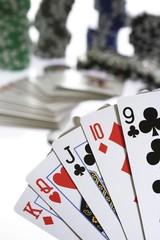 Poker hand - king-high straight