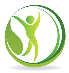 Logo health nature people symbol