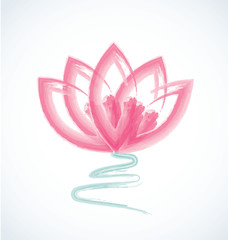 Logo lotus watercolor flower