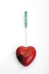 Heart and syringe