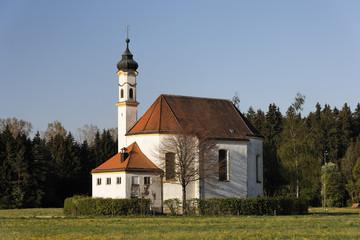 St Leonhard chapel, Dietramszell, Upper Bavaria, Germany, Europe