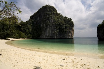 Secluded beach, Ao Nang, Thailand, Southeast Asia, Asia